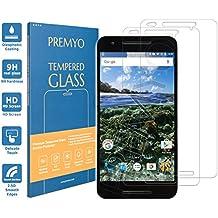 PREMYO [2 Piezas] cristal templado Nexus 6P. Protector cristal templado Nexus 6P con una dureza de 9H, bordes redondeados a 2,5D. Protector pantalla Nexus 6P