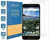 PREMYO Lot de 2 Verre Trempé Film Protection Écran Compatible avec Nexus 6P Dureté 9H Bords 2,5D...
