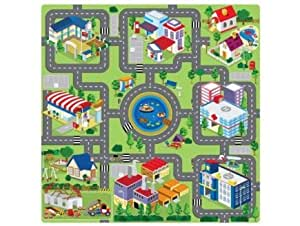 tapis puzzle en mousse circuit de voiture 9 pieces jeux et jouets. Black Bedroom Furniture Sets. Home Design Ideas