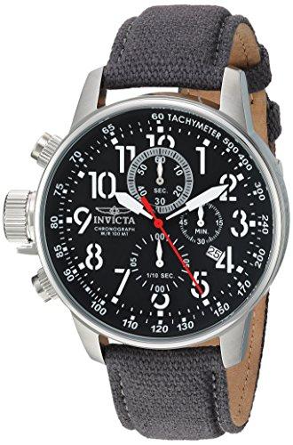 invicta men's analog quartz watch with cloth strap 11519