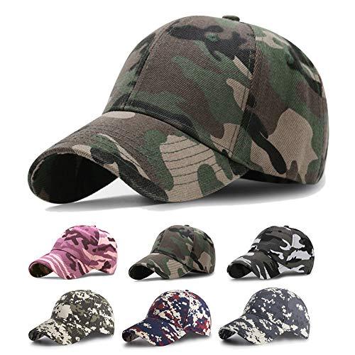 OCTERING Baseball Cap Unisex Baseball Mützen für Draussen Sport oder auf Reisen - Army Cap, Grün, Einheitsgröße Fashion Army Cap