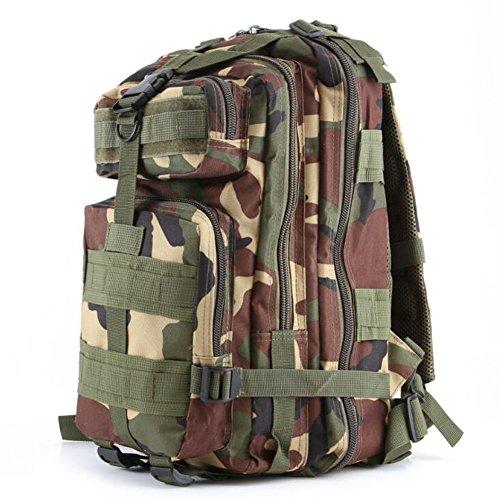 Pizz Annu-Outdoor Tactical Rucksack Sport Camouflage Tasche für Camping Reisen Wandern Trekking Dschungel-Camouflage