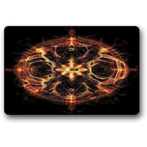 Felpudo no. 01Chimaira la edad de Hell logotipo personalizado rectángulo Entryways–Felpudo Antideslizante Interior/exterior Felpudo Felpudo (23,6* 16,7)