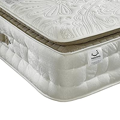 Happy Beds Windsor 3000 Pocket Sprung Pillowtop Memory Wool Orthopaedic Mattress - cheap UK light store.