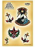 Adam Potts - Nautical Old Skool Tattoo Classic Anchors etiqueta Sticker Decal - 5.25