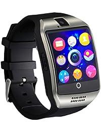 Ablebro 1.54 pulgadas bluetooth Smartwatch Q18 reloj de pulsera soporte NFC Cámara TF tarjeta Reloj Inteligente para Teléfono Android iOS iPhone Huawei Samsung