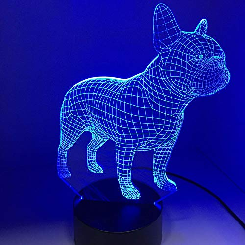 gge 3D LED Nachtlampe 7 Farben USB Hologramm Deko Lampe Tischleuchten Geburtstag Party Geschenk für Kinder Freunde ()