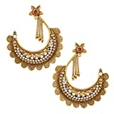 Signature Chand Bali Shape Golden Dangle...