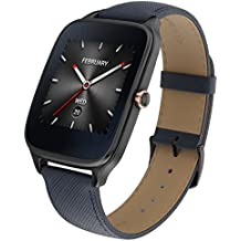 "ASUS WI501Q(BQC)-2LBLU0015 - Smartwatch de 1.63"" (Qualcomm Snapdragon, 512 MB RAM, 4 GB eMMC, Bluetooth, WiFi, Android Wear, acero inoxidable), azul oscuro"