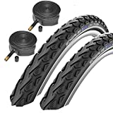 Schwalbe Land Cruiser 26' x 2.0 Mountain Bike Tyres with Schrader Tubes (Pair)