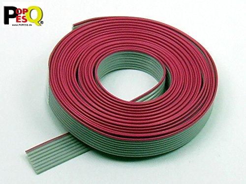 POPESQ® - 3 m x Cavo Piatto a Nastro 8 Poli 1.27mm per Connettore 2.54mm, Ribbon Cable #A1508
