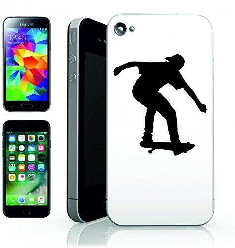Smartphone Case Skateboard-giovane atleta Esercizio di fitness della salute-Giocare umana Silhouette di Sport trucco per Apple Iphone 4/4S, 5/5S, 5C, 6/6S, 7& Samsung Galaxy S4, S5, S6, S6Edge, S