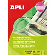 APLI Copier Transparent Film 210 x 297 - Película transparente