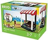 BRIO World 33946 - Village Marktstand, bunt