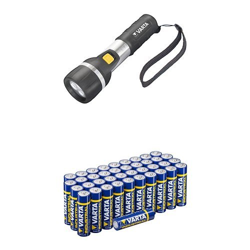 Varta 3 x 5mm LED Day Light Taschenlampe mit Varta Batterien Mignon AA LR6 Vorratspack 40 Stück