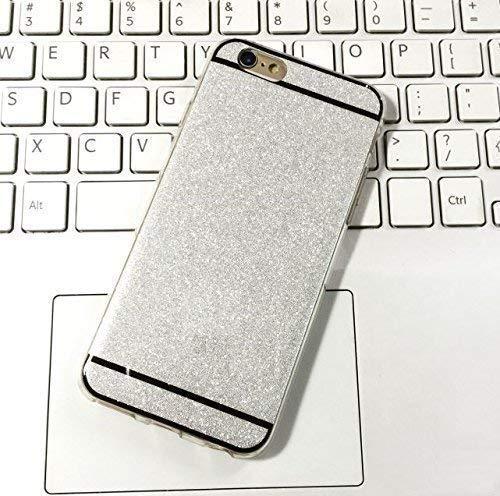 lle Silikon TPU Glitzer iPhone 5/5S Silber ()
