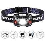 zknen Neueste Stirnlampe LED, USB Wiederaufladbare Mini Stirnlampe Kopflampe Wasserdicht Leichtgewichts Stirnlampe 6 Leuchtmodi für Laufen Jogging