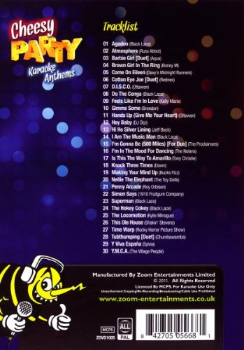 Zoom Karaoke Dvd Cheesy Party Anthems 30 Songs 842705056681 Ebay