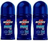 Mennen - Déodorant Homme Bille Marine Anti-Transpirant 48h - 50ml - Lot de 3