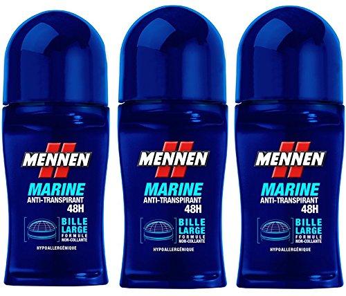 Mennen deodorante maschile Bille Marine - 50ml - Set di 3