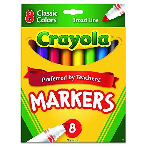 Crayola nicht waschbar Marker, Broad Point, Klassische Farben, 8/Set (58-7708)