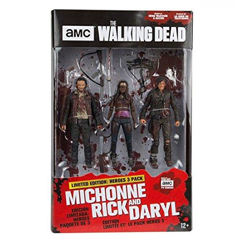 Image of Rick Daryl Michonne (The Walking Dead) McFarlane Hero 3 Pack Figure Set
