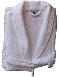 Home Basic - Albornoz con capucha, talla XS, color blanco