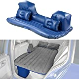 Lescars Autobett: Aufblasbares Bett für den Auto-Rücksitz, mit Kissen und Fußraum-Stütze (Luftbett)