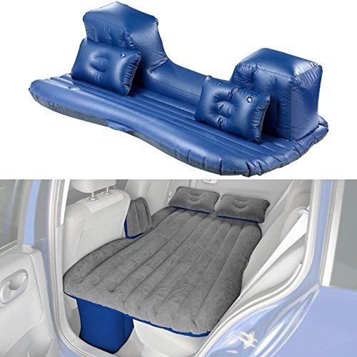 Lescars Luftmatratze: Aufblasbares Bett für den Auto-Rücksitz, mit Kissen und Fußraum-Stütze (Luftbett)