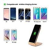 Rokoo Wireless Ladegerät 10W Leistungsstarke Schnellladestation Charged Holz für Samsung Galaxy S6 Edge Plus Hinweis 5 S8 S8 Plus - 6