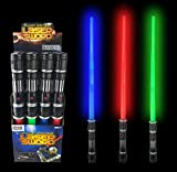 [VALUE BUNDLE] 12 Pack LEDLaser Swords Expandable Light Up Sabers with FX Sound Effects (Bulk)