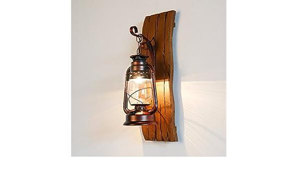 Bootu applique led su e giù per lampade da muro in legno rustico