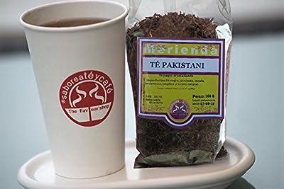 SABOREATE Y CAFE THE FLAVOUR SHOP Thé Noir en Feuille Pakistanais 100 grammes