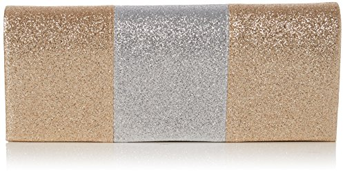 Swankyswans Damen Jem Sparkle Color Block Clutch, Gold, 5x10.2x24.5 centimeters (Gold Jems)