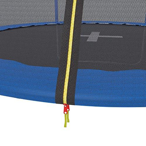 Ultrasport Gartentrampolin Promo, Kindertrampolin, Trampolin Komplettset inklusive Sprungmatte, Sicherheitsnetz, gepolsterten Netzpfosten und Randabdeckung, 305 cm verschluss netzt