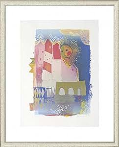Artland graphique d'artiste Encadré avec passe-partout bois cadre de Rosina Wachtmeister sans titre Architecture Bâtiment Arts graphiques Multicolore 117,3x 92,8x 1,5cm b7jd
