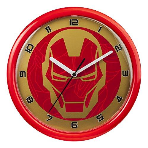 Marvel Reloj de Pared, Rojo, 24.5 x 0.2 x 25 cm