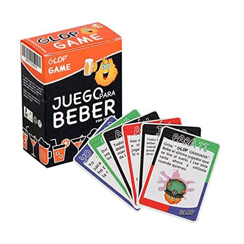 Glop Game - Juegos para Beber - Juegos de Beber con cartas para Fiestas - 100 Cartas