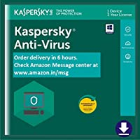 Kaspersky Anti-Virus 2018- 1 PC, 3 Years (Email Delivery in 2 hours- No CD)
