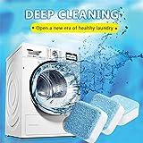Detergente per lavatrice Compressa effervescente 5 compresse, Pulizia in profondità Decalcificante Detergente Rondella Detergente Ossigeno Decontaminazione
