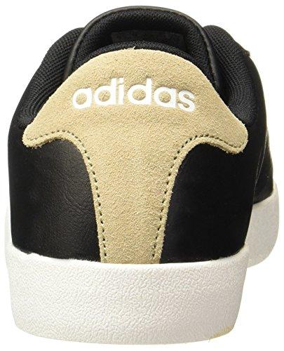adidas Herren Court Vulc Low-Top, Rot schwarz (Negbas / Negbas / Caqtra)