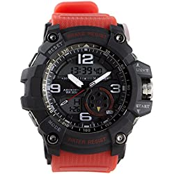 Adixion Sports Resin Strap Black Dial Digital Analog Watch - For Boys & Girls