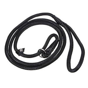 UEETEK-Durable-Pet-Dog-Nylon-Adjustable-Loop-Training-Leash-Slip-Lead-Traction-Rope-15m-Black
