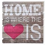 Wandschild Holz-Schild Dekoschild - Home is where the Love is - in shabby