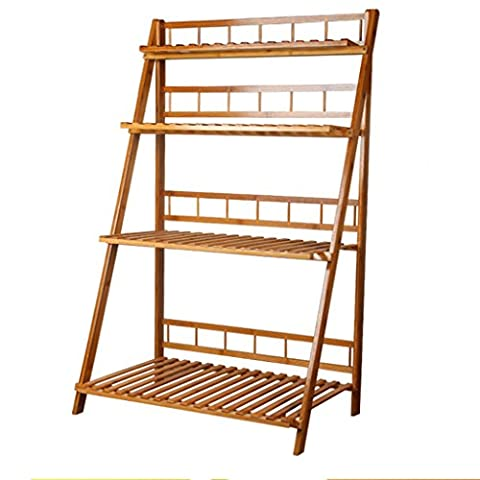 Bamboo Flower Rack, Multi-Tier, Foldable, Multi-Functional, Outdoor / Balcony Plant Stand ( Size : 100cm