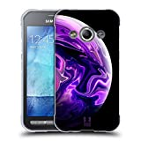 Head Case Designs Violet Acryl Giessende Planeten Soft Gel Hülle für Samsung Galaxy Xcover 3