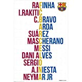 #4: F.C. Barcelona Poster Player Names 25