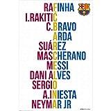 #7: F.C. Barcelona Poster Player Names 25