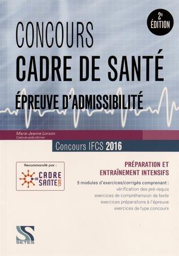 Concours cadre de santé 2016 - Epreuve d'admissibilité