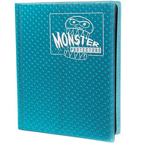 (Monster Protectors Monster-Binder 4 Pocket-Karten, Album, Dass Aqua Blue Sammeln Hält 160 Yugioh, Magic und Pokemon Karten)